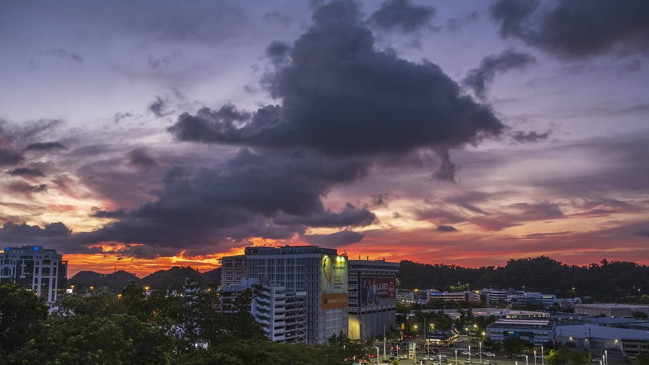 sunset, city, puerto rico facts