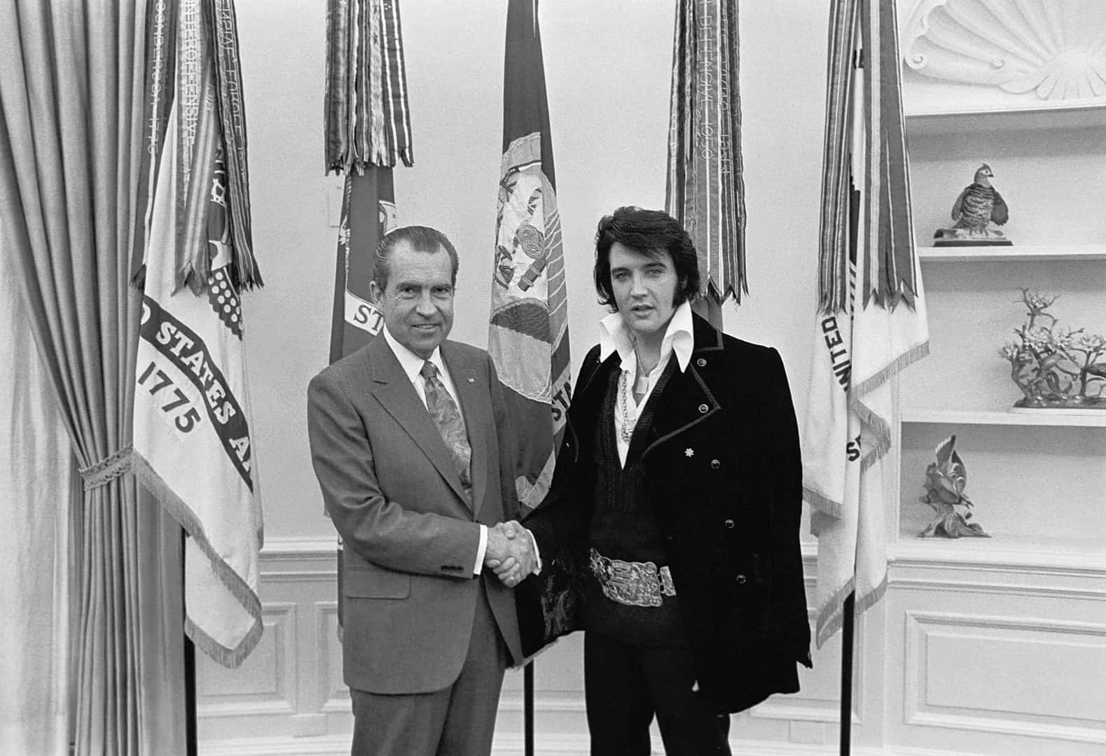 Elvis Presley meets President Nixon, music facts