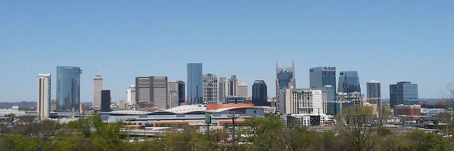 The Nashville skyline in 2018, home of country music, music facts