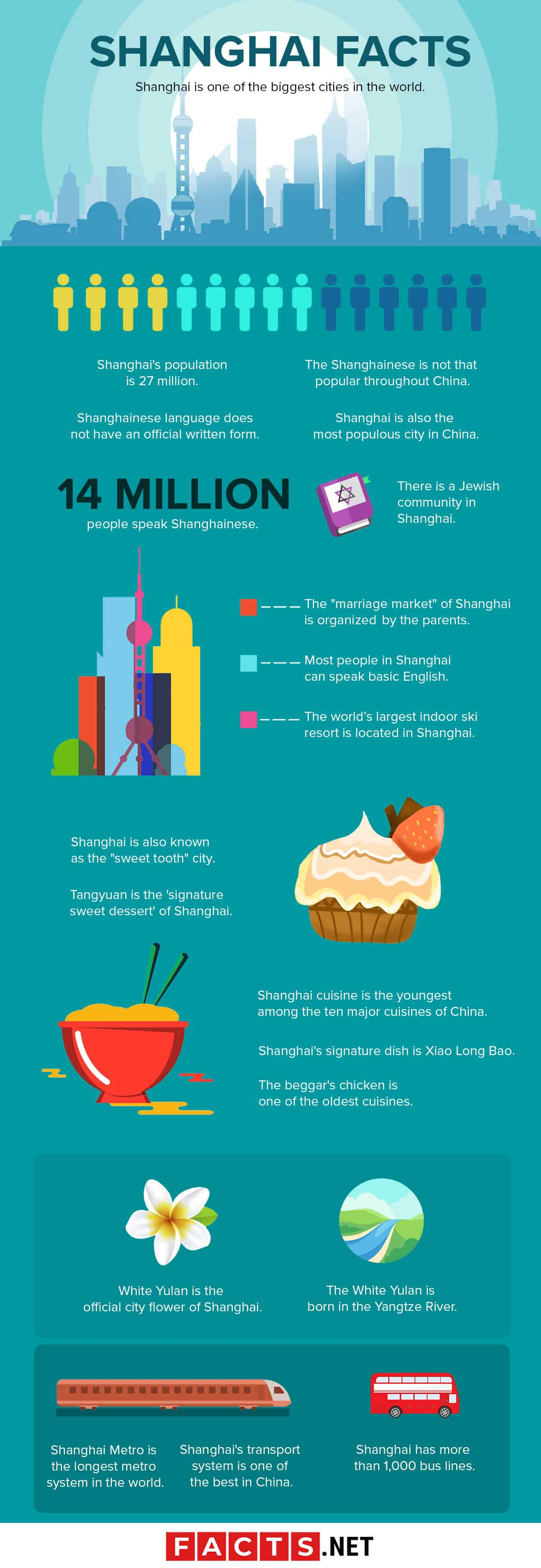 Shanghai Facts Infographics