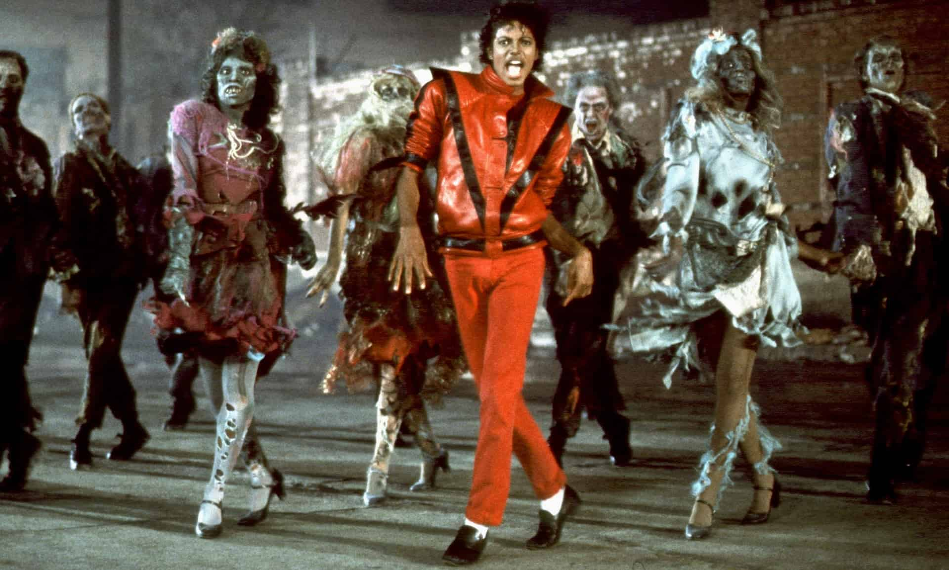 An iconic scene from Michael Jackson's Thriller, music facts