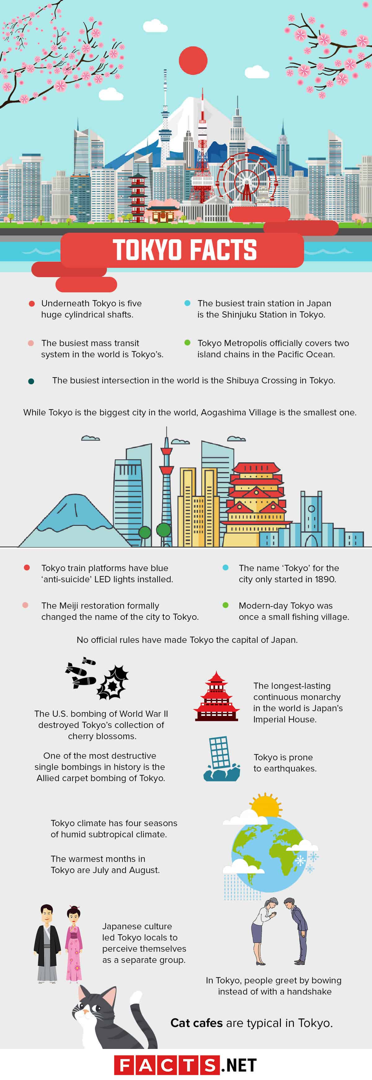 Tokyo Facts Infographics