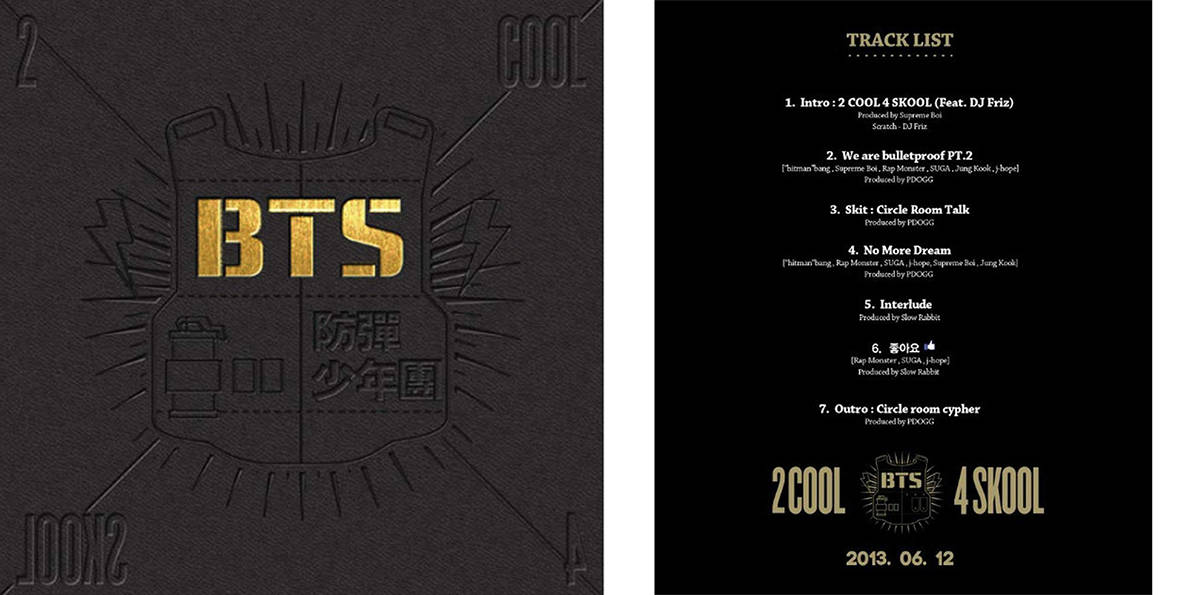 BTS 2 Cool 4 Skool album, BTS Facts