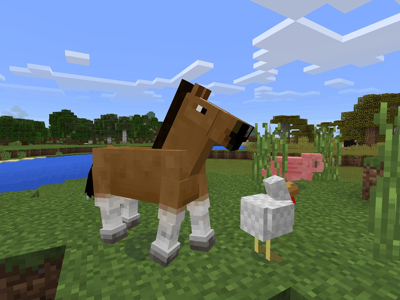 horse, chicken, minecraft, minecraft facts