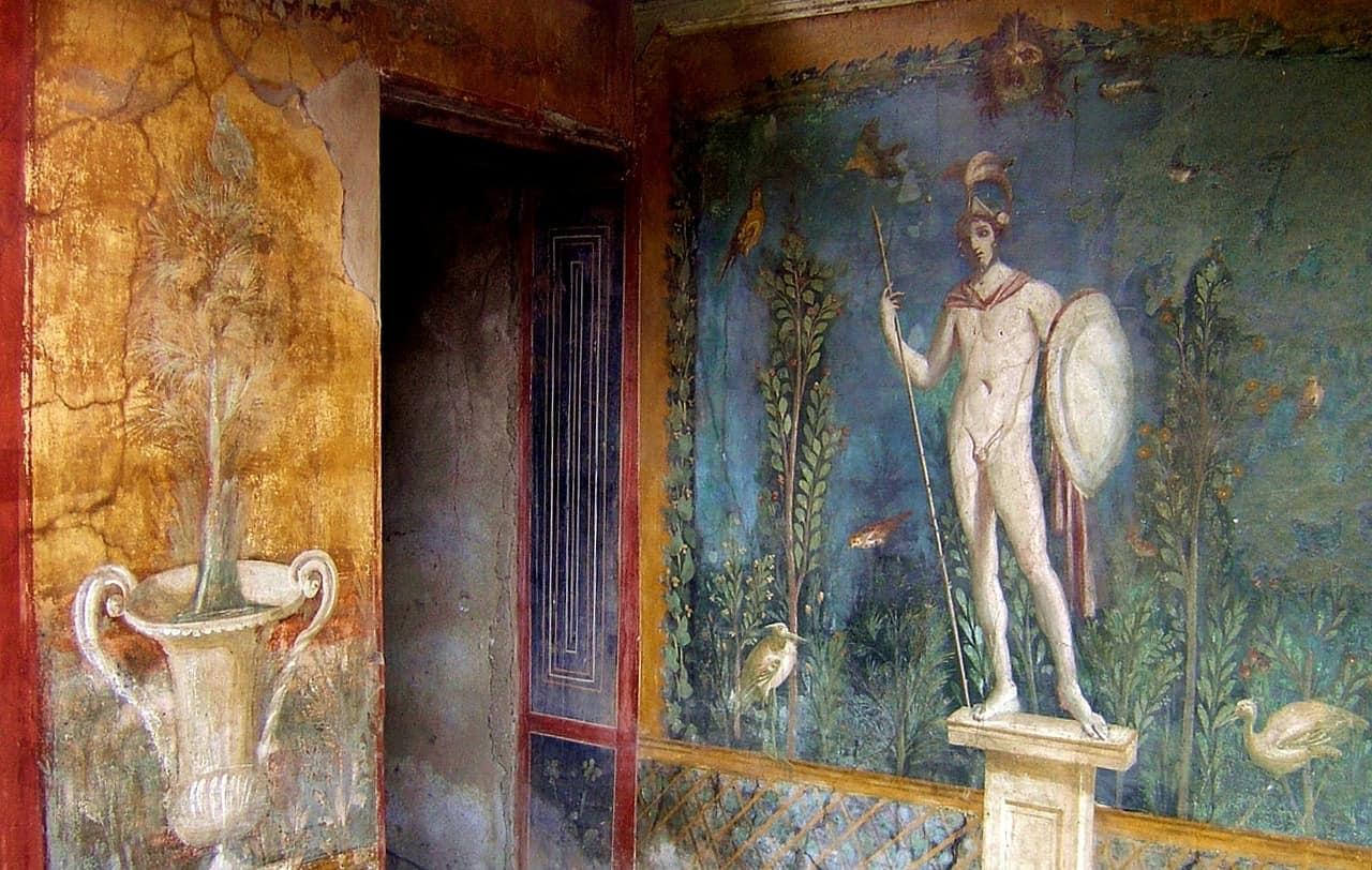 pompeii paintings on walls