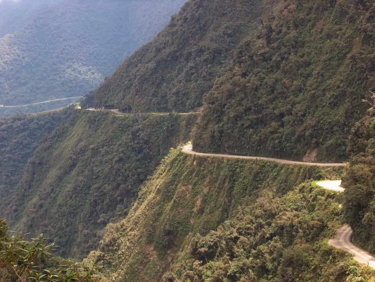Camino de las Yungas Road, the death road in bolivia