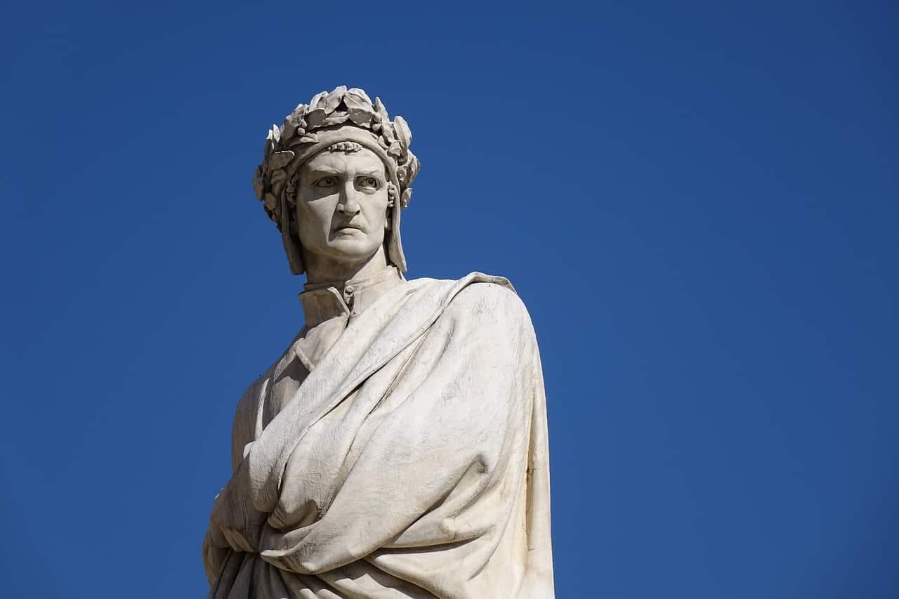 statue, dante alighieri, italy facts