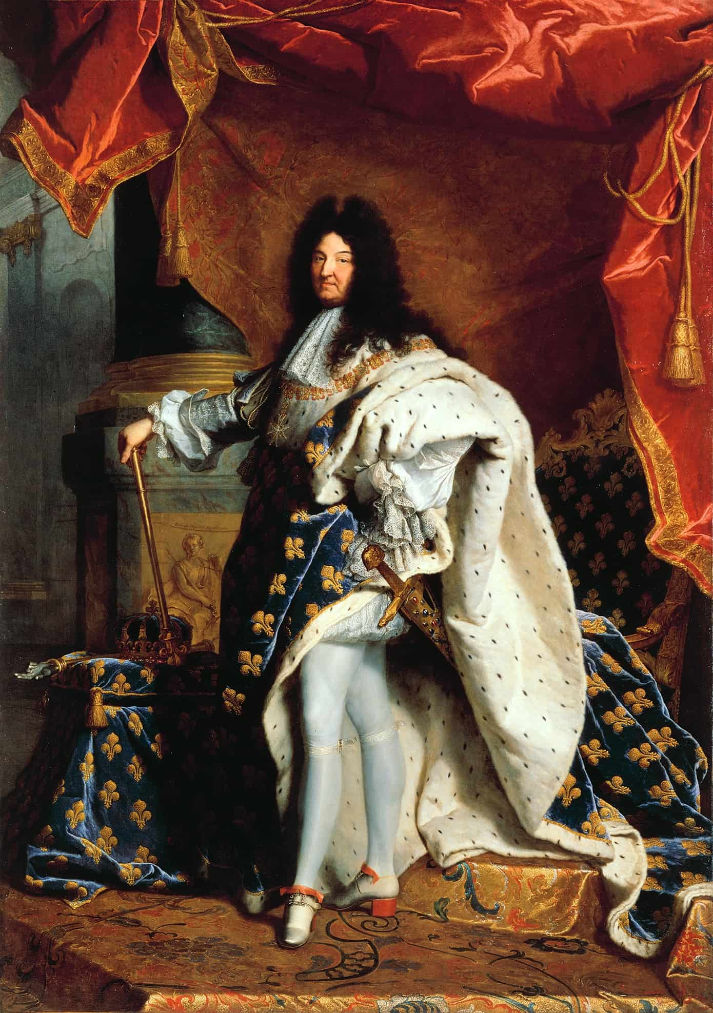 King Louis XIV, human face