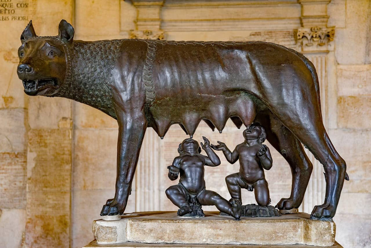 rome, statue, wolf facts