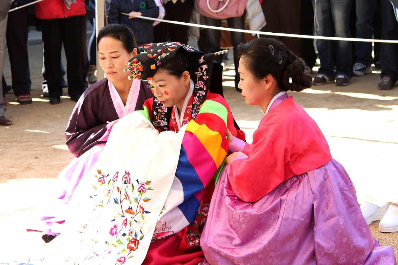 traditional wedding in south korea