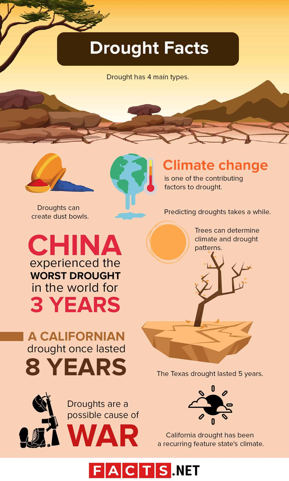Drought Facts Infographics