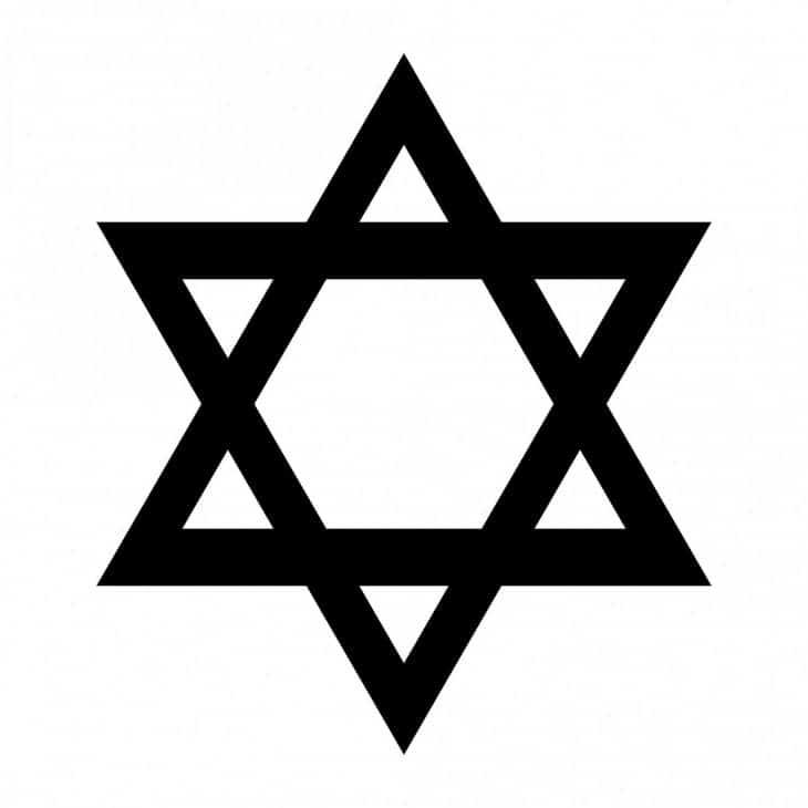 The Star of David, a traditional Jewish symbol.