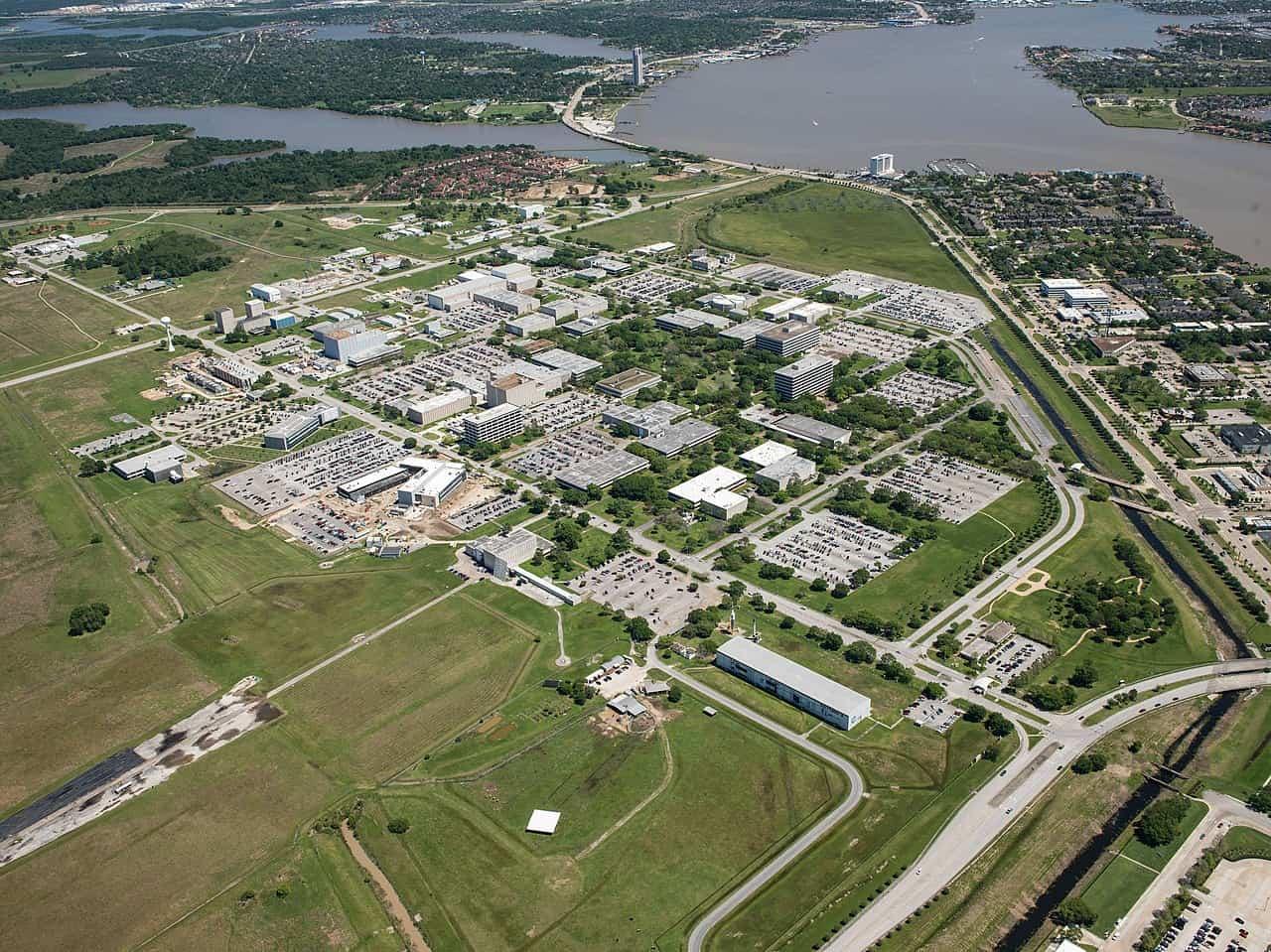 aerial photograph of the NASA space center