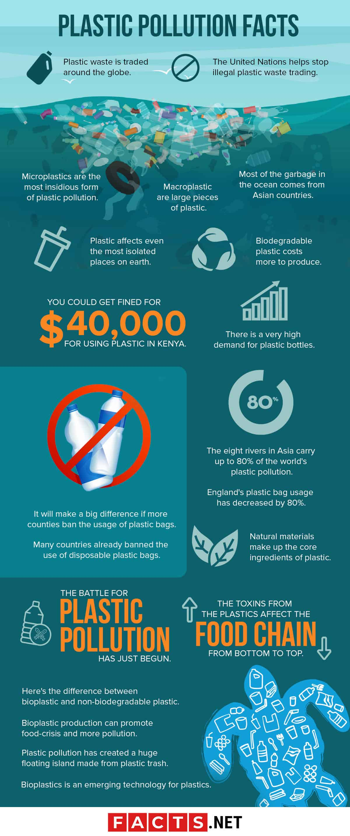 Plastic Pollution Facts Infographics