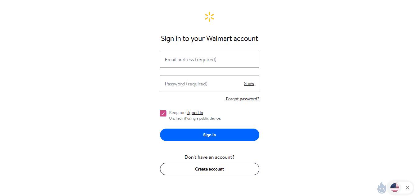 walmart.com sign in