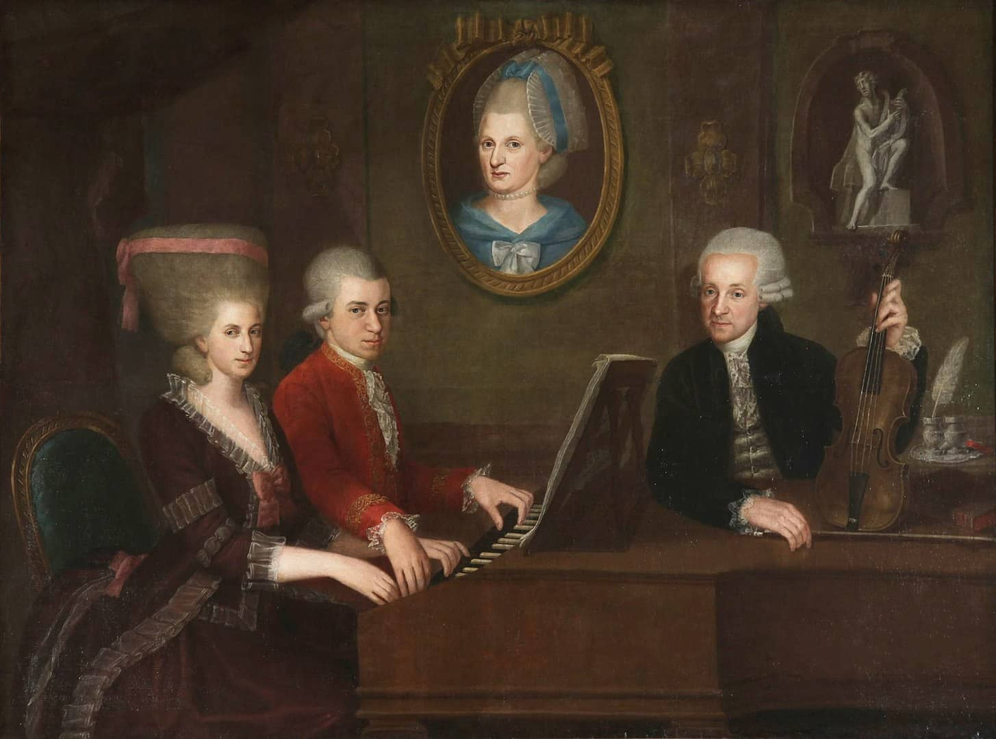 Mozart Facts, Mozart and family