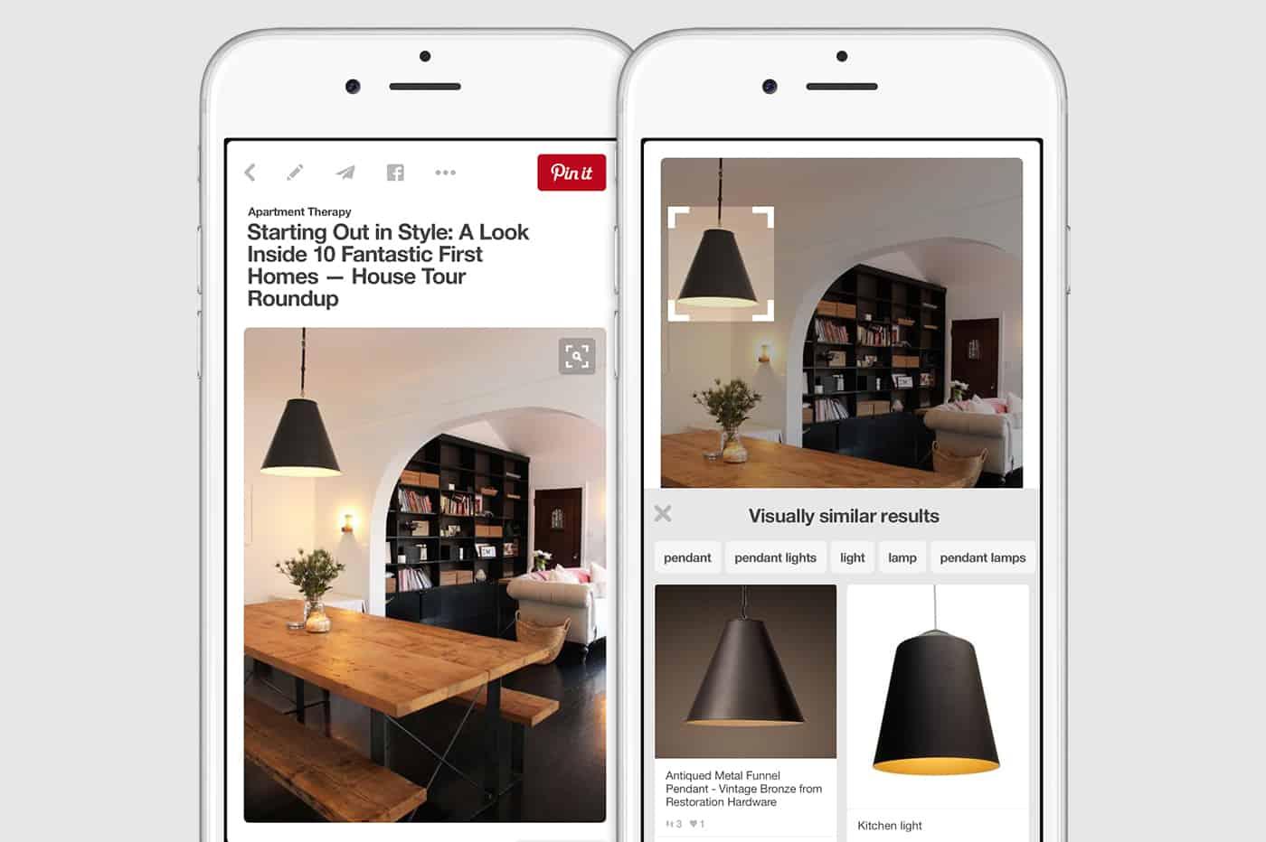Pinterest visual search