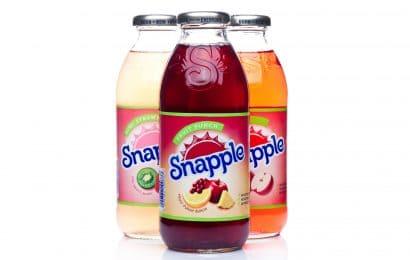 Bottles of Snapple drinks
