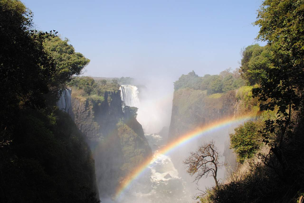 rainbow, victoria falls