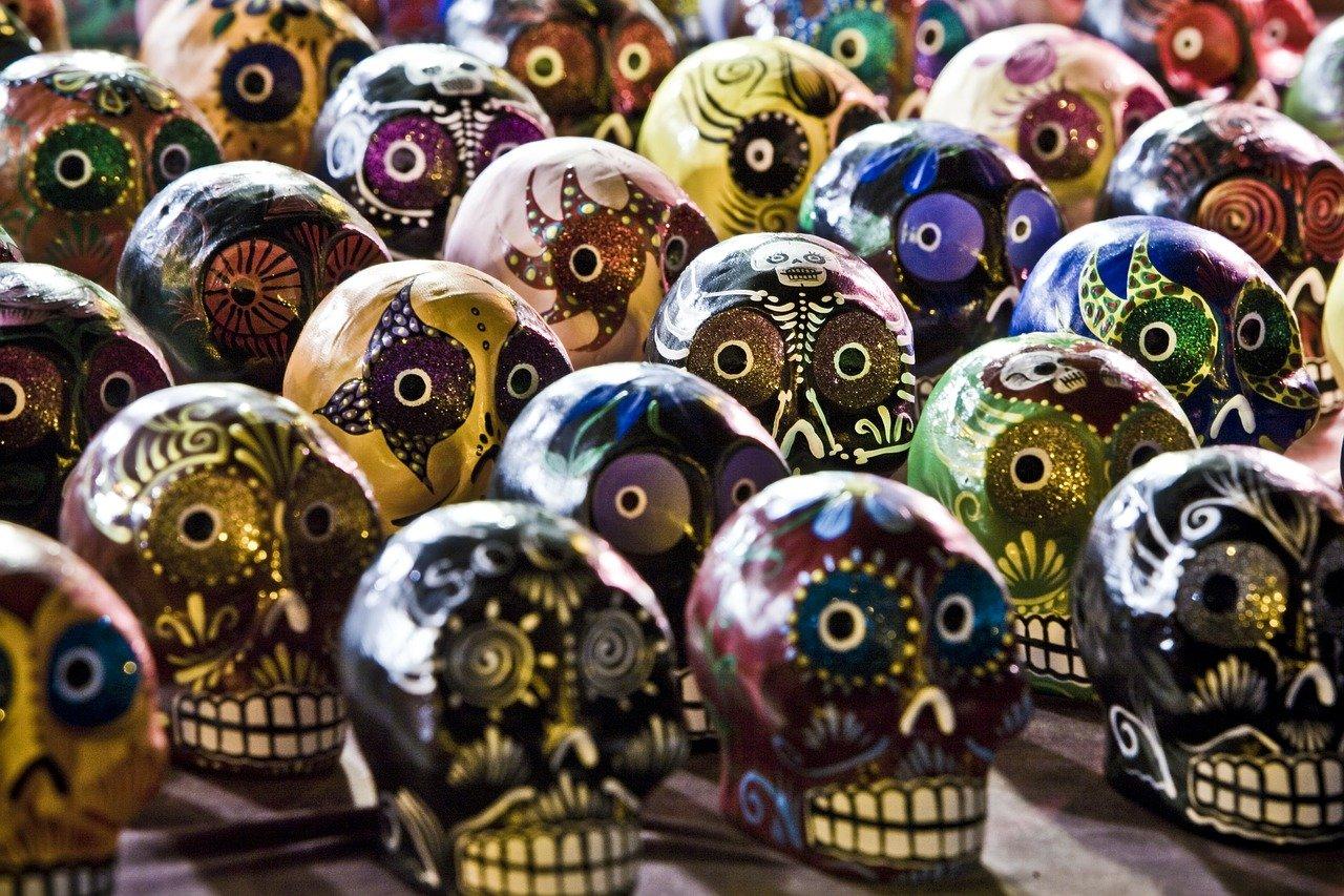 dia de los muertos, skull, candy