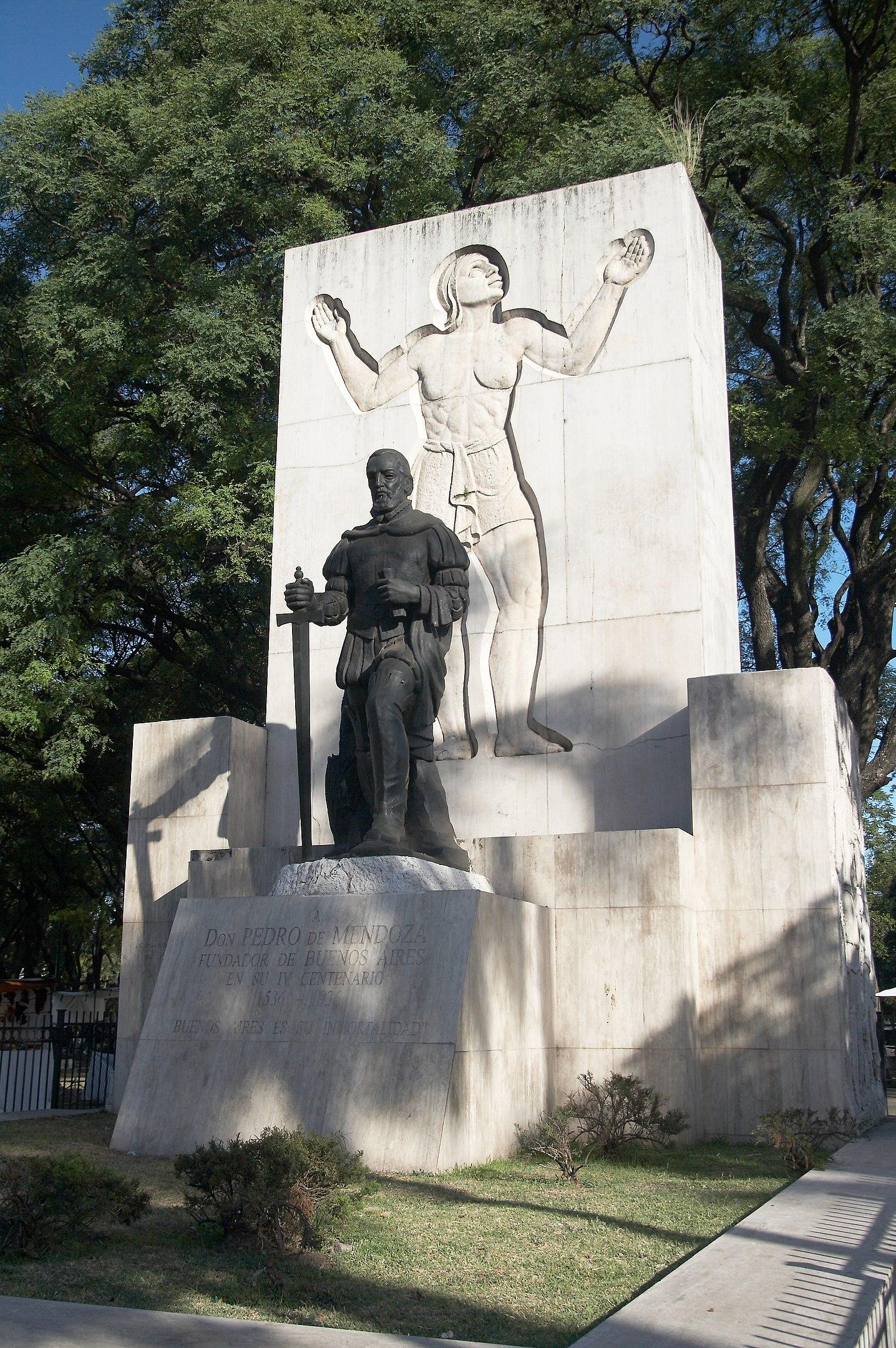 Argentina Facts, Pedro de Mendoza Monument