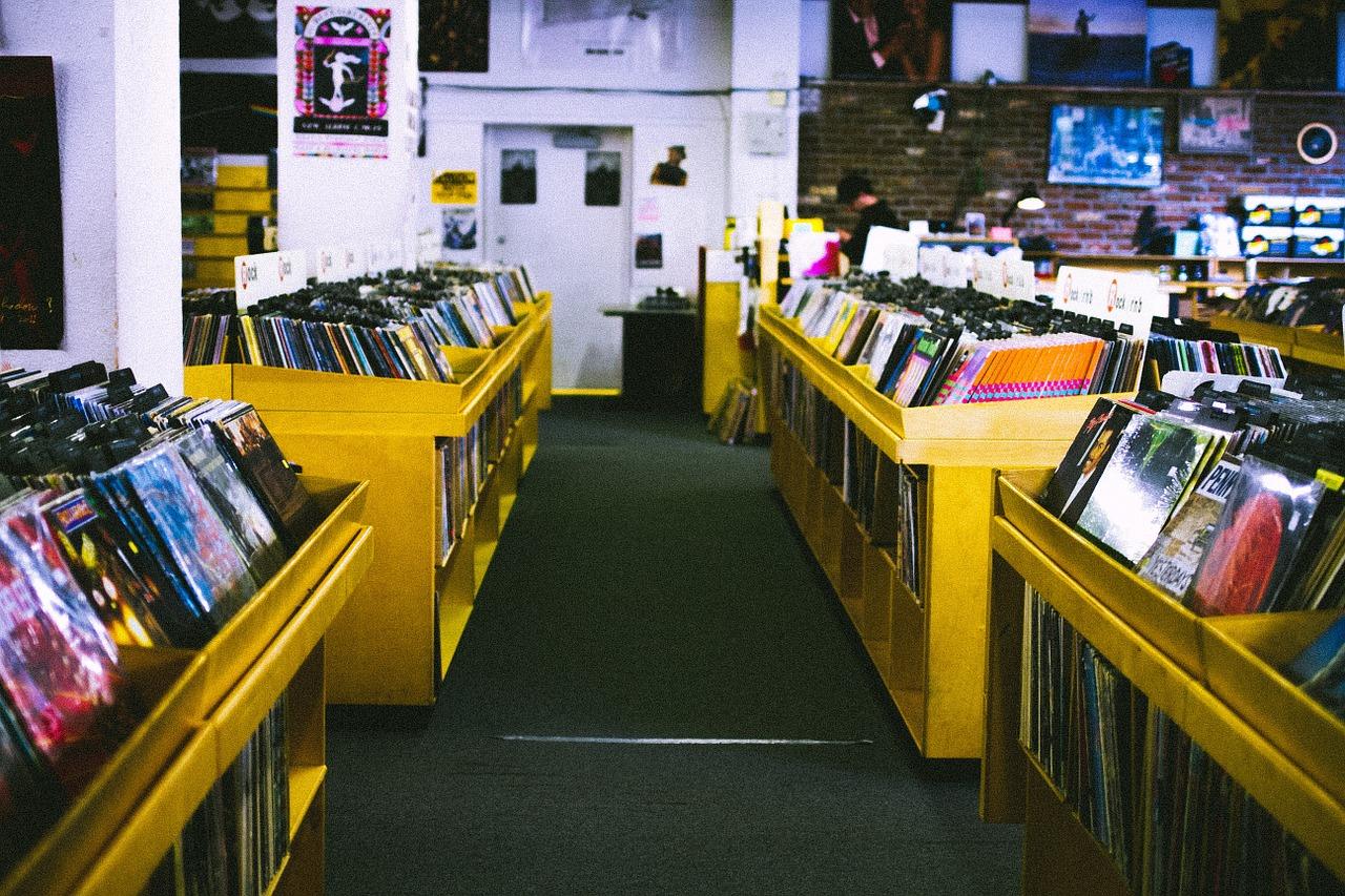 record store, music