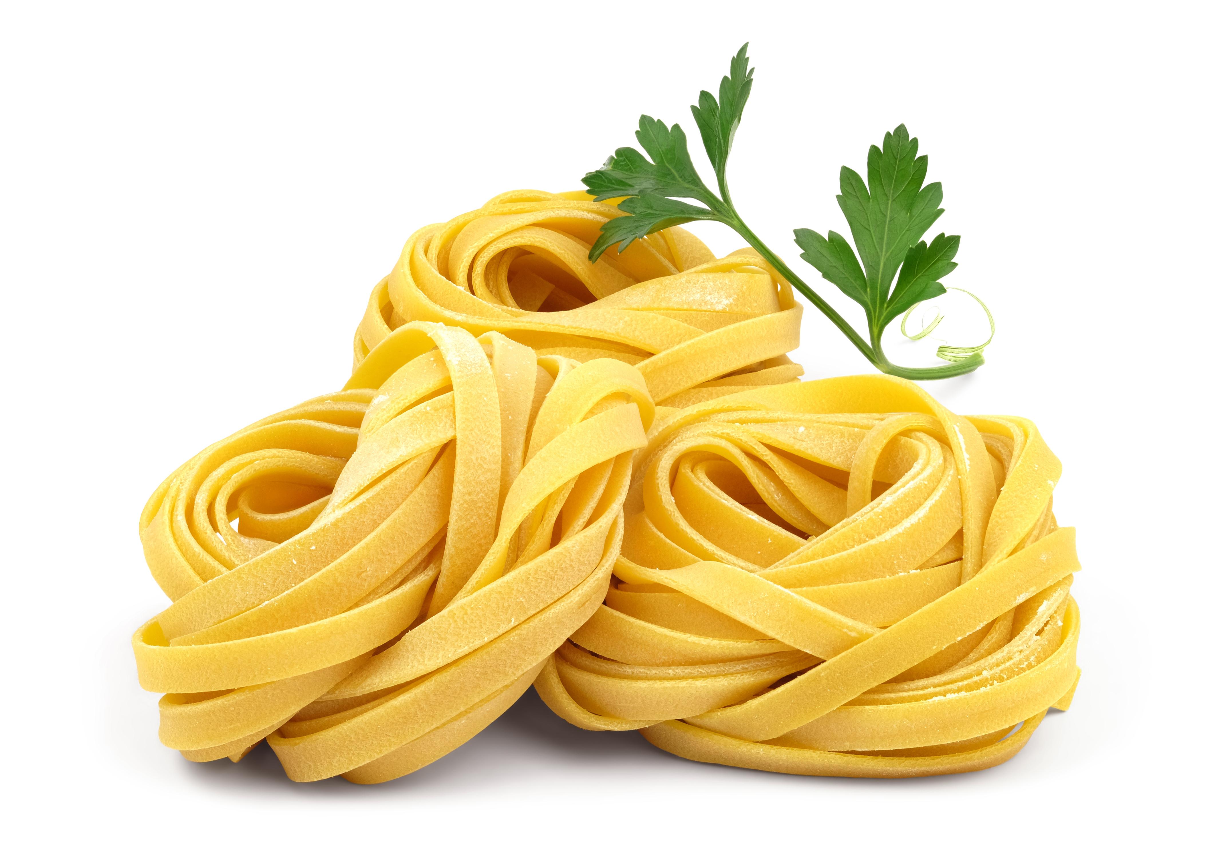 Italian rolled fresh fettuccine pasta