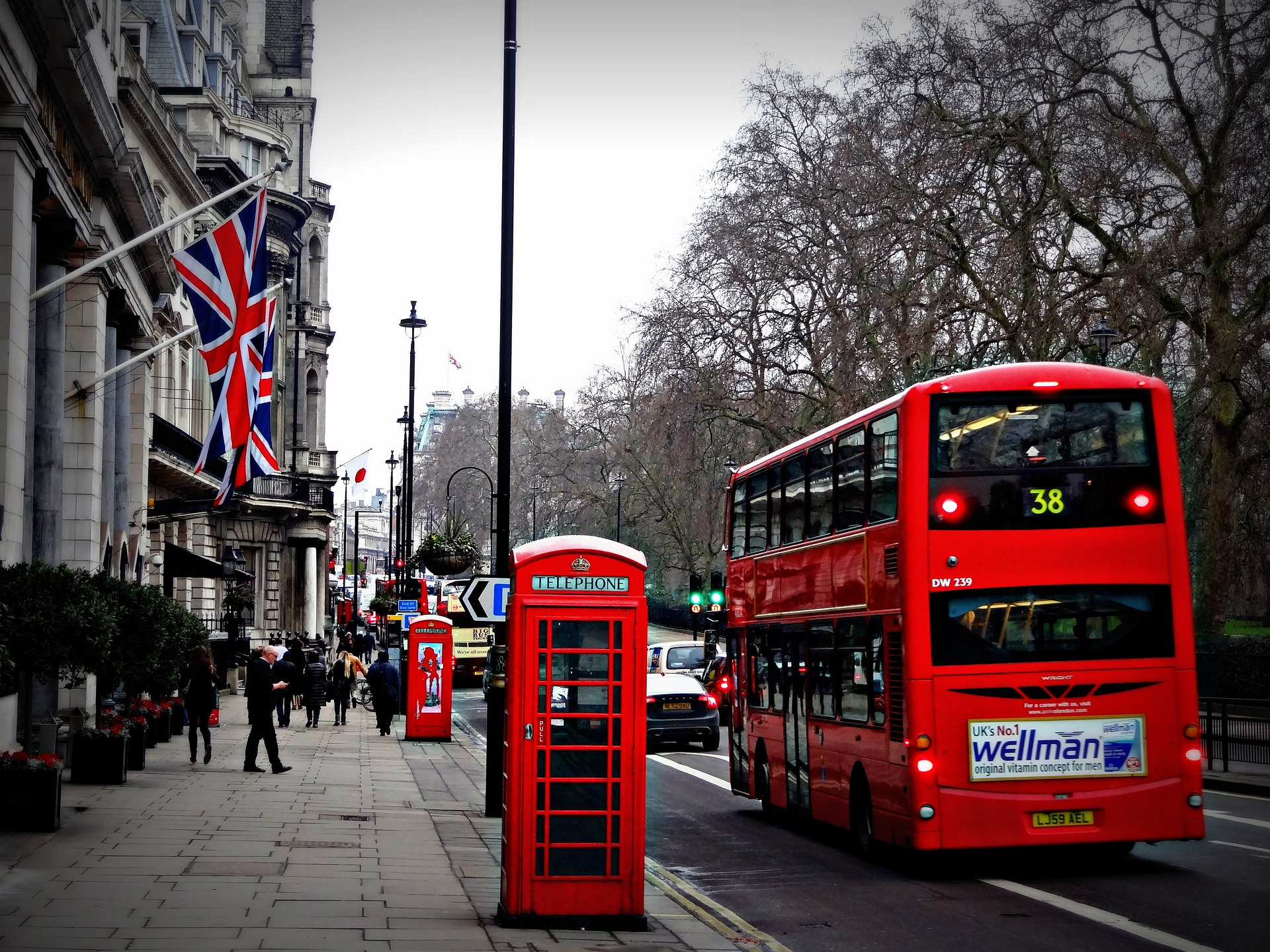 London Bus, Red Bus, United Kingdom, Britain