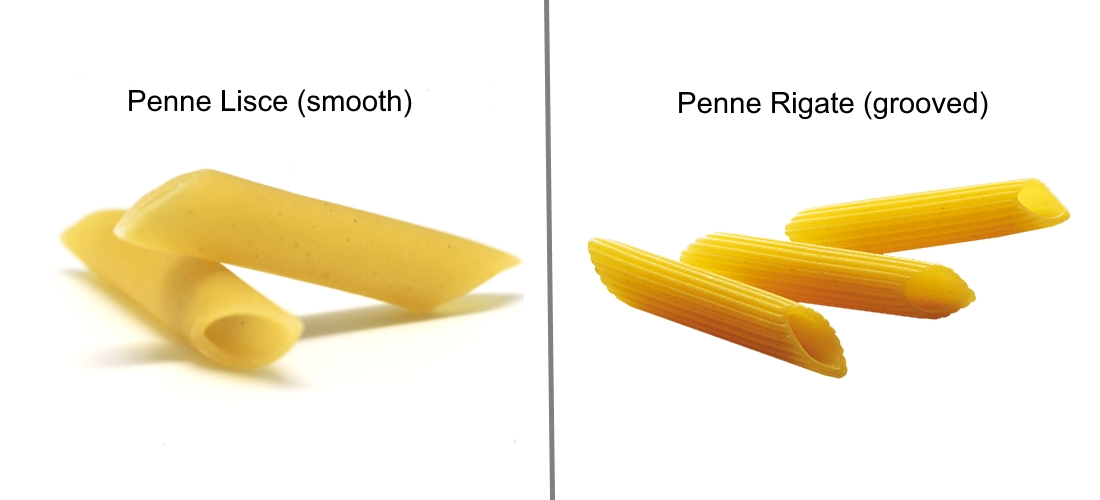 Penne lisce vs penne rigate