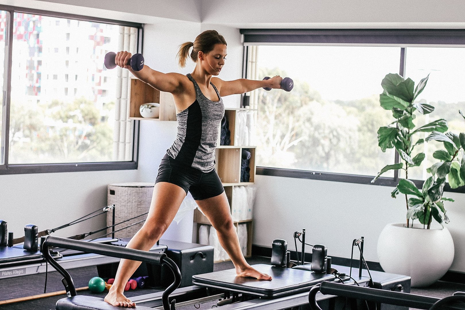 Pilates, Practicing on a Reformer