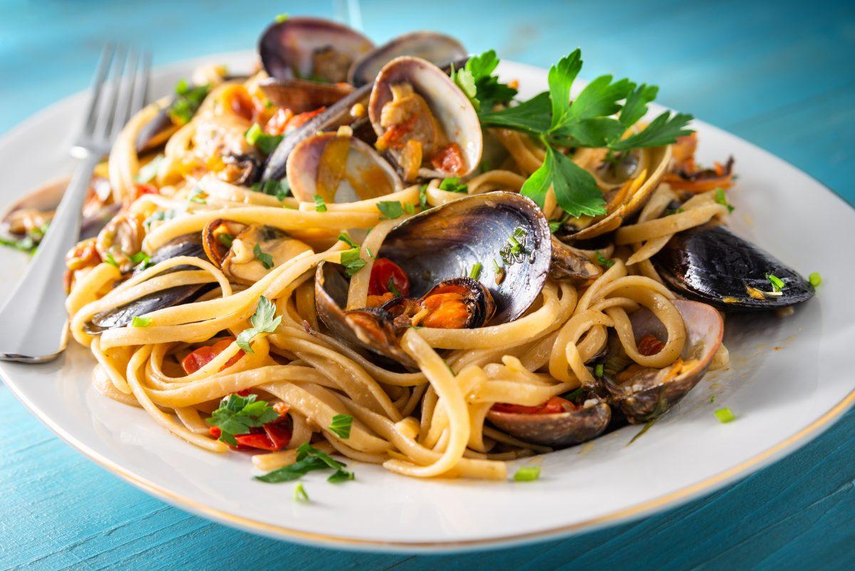 Linguine - flat type of pasta