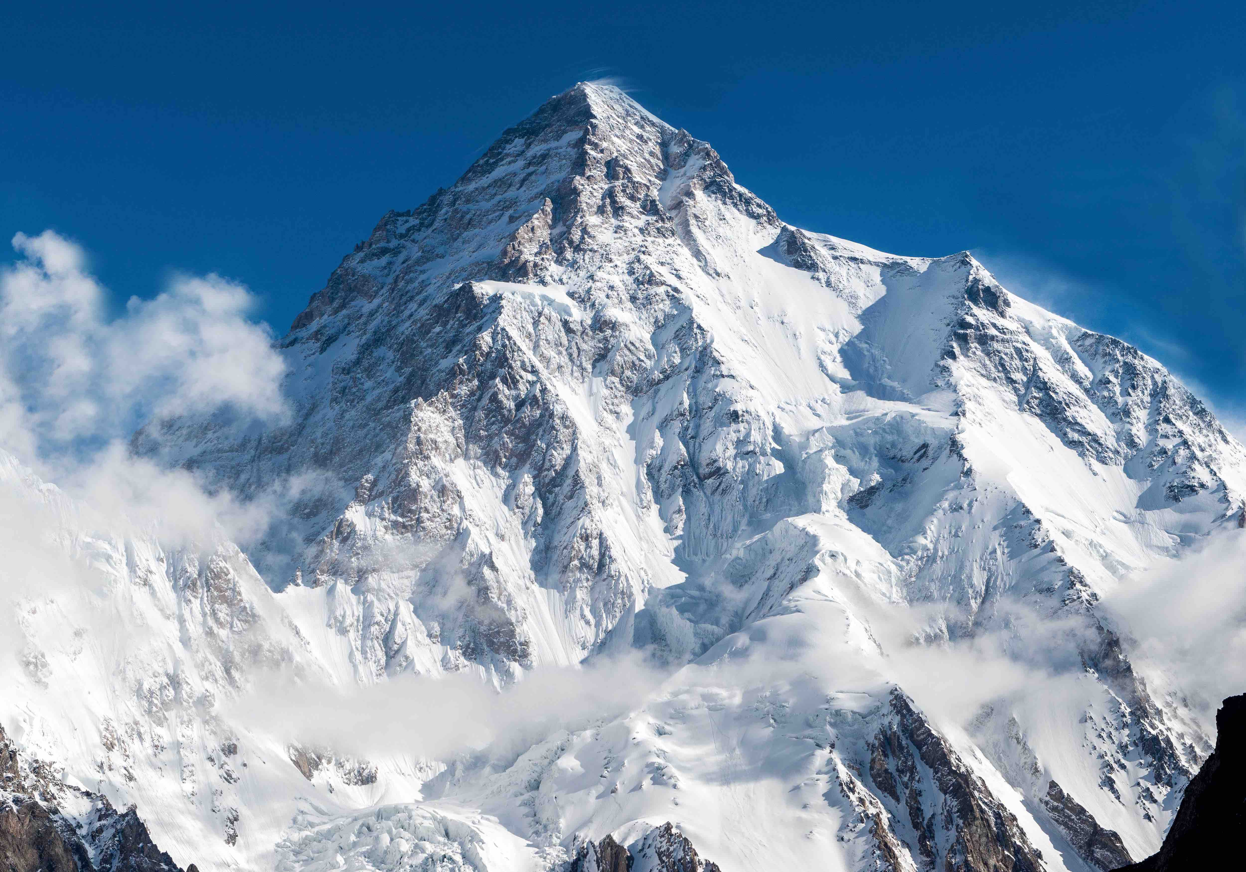 mount k2, second tallest mountain in the world