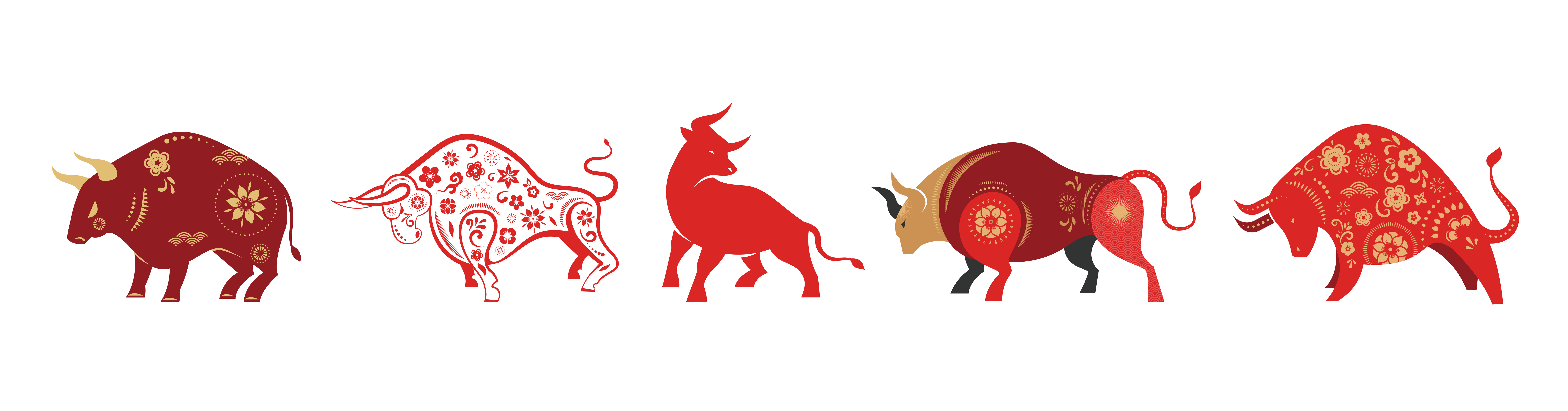 5 different types of ox, year of the ox, 2021