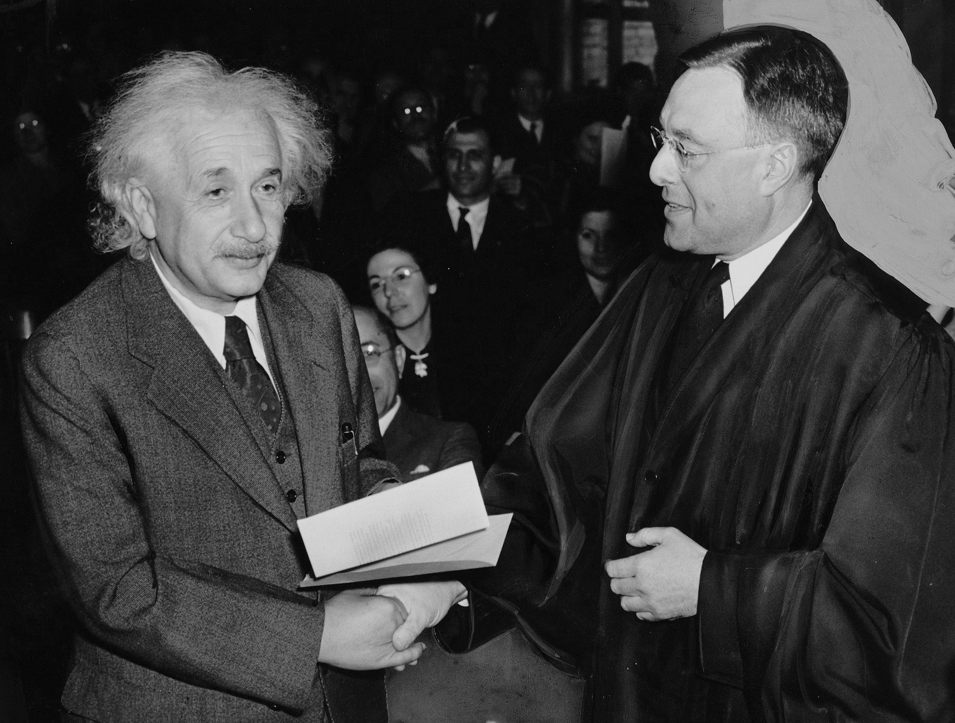 Albert Einstein and Philip Forman