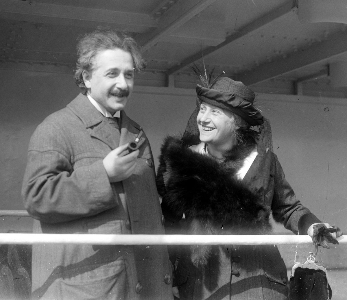 Albert and Elsa Einstein