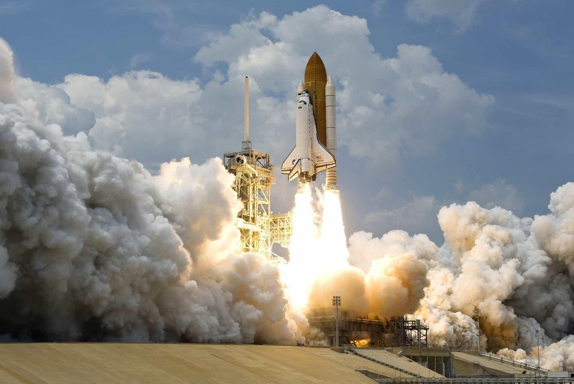 Rocket Launch, Hydrogen Fuel