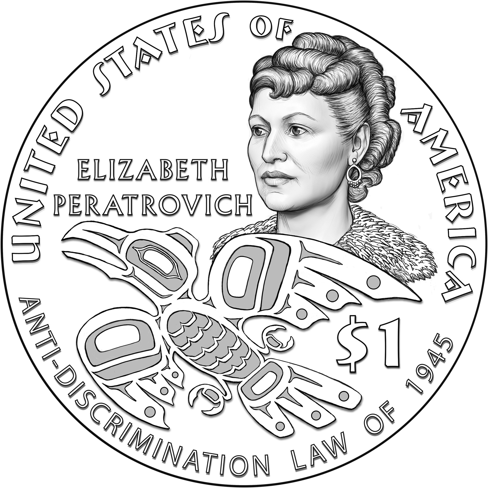elizabeth peratrovich featured on special coin