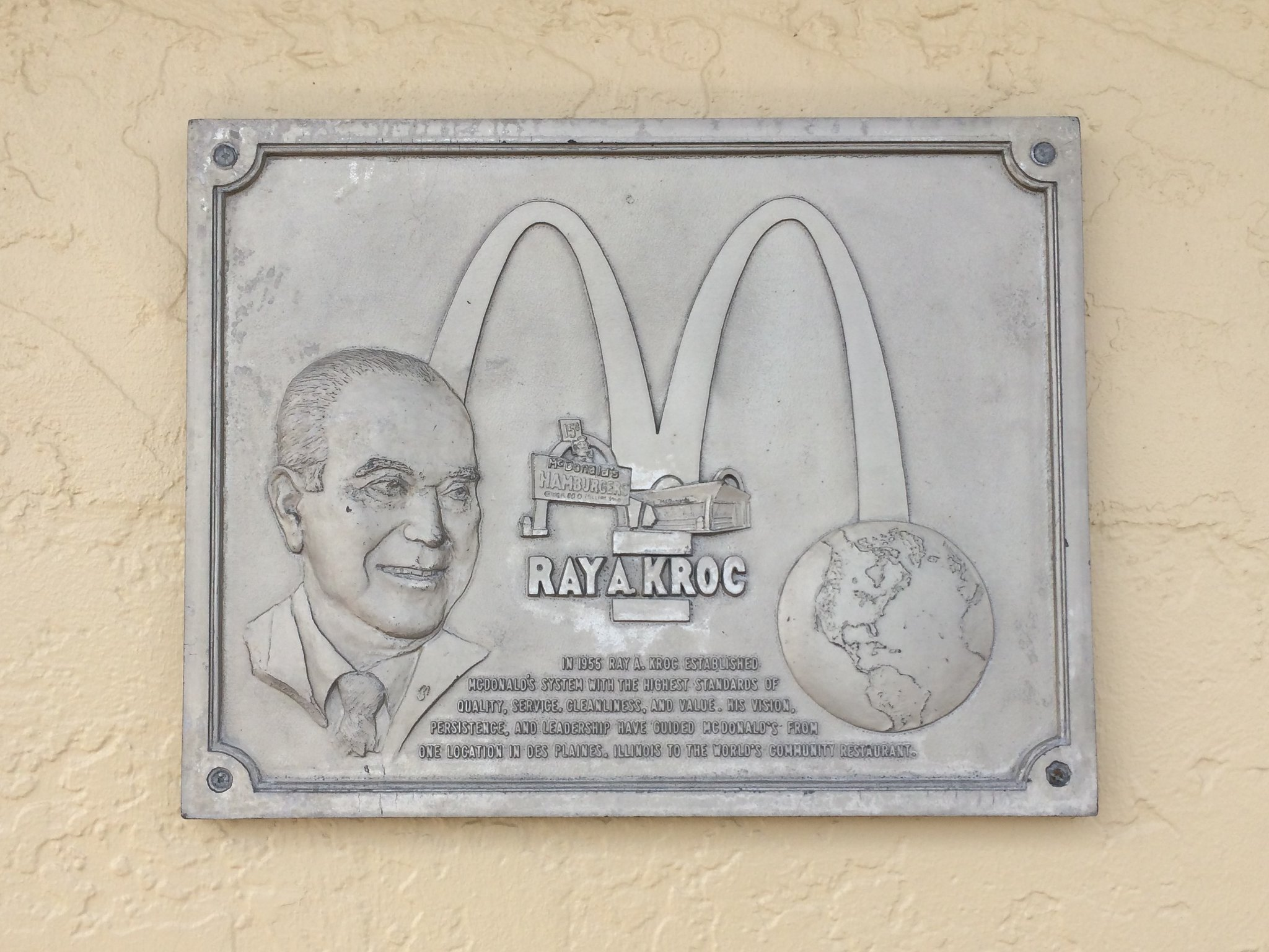 Ray Kroc Plaque