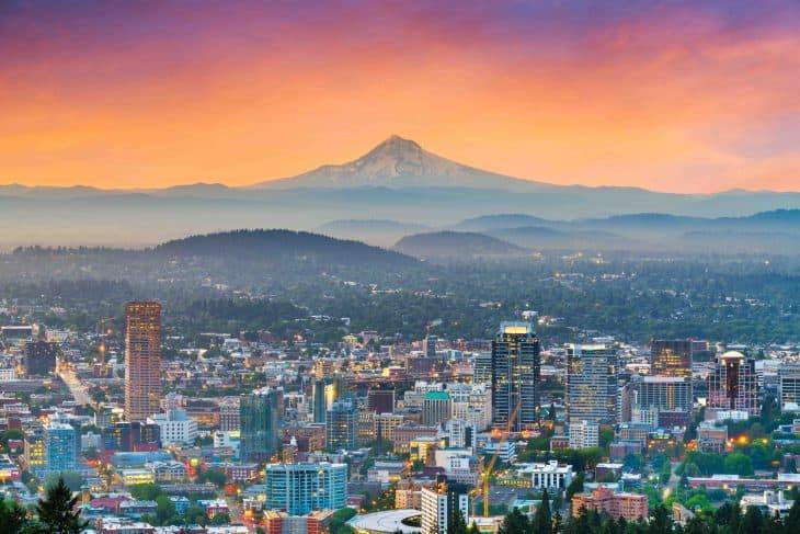 Downtown of Portland, Oregon