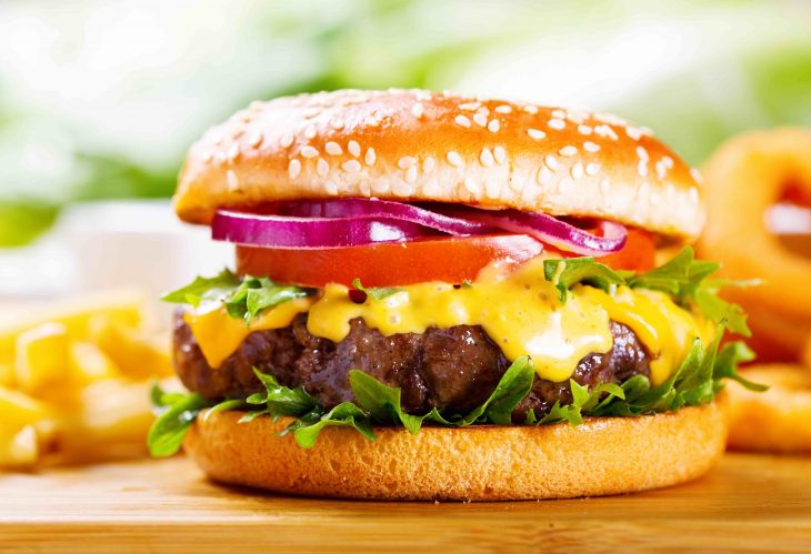 hamburger with fries, why is it called a hamburger